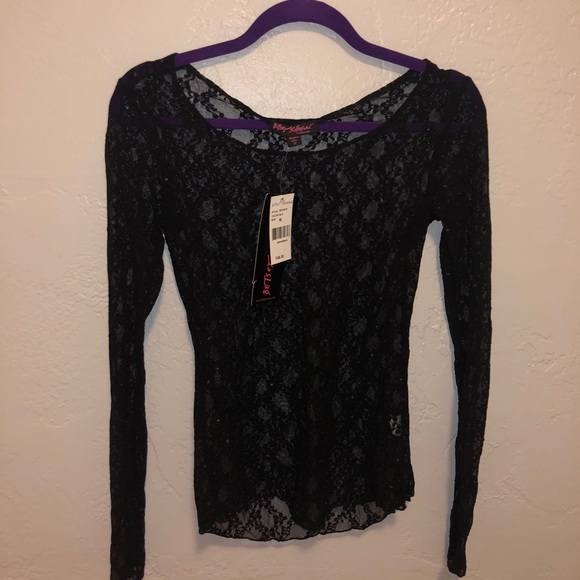 Betsey Johnson Tops - Black Betsey Johnson lace top size small